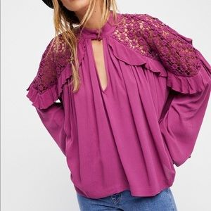 NWT Free People Little Bit Of Love Blouse size XS